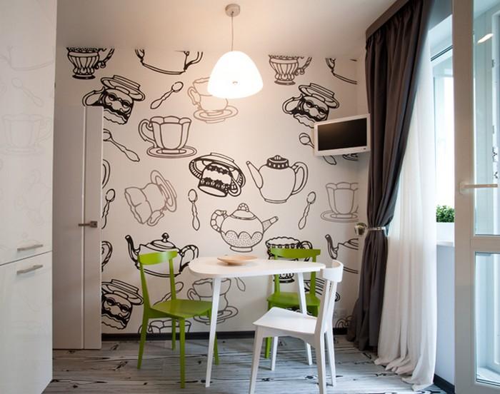 Как раскрасить своими руками стену на кухне 100
