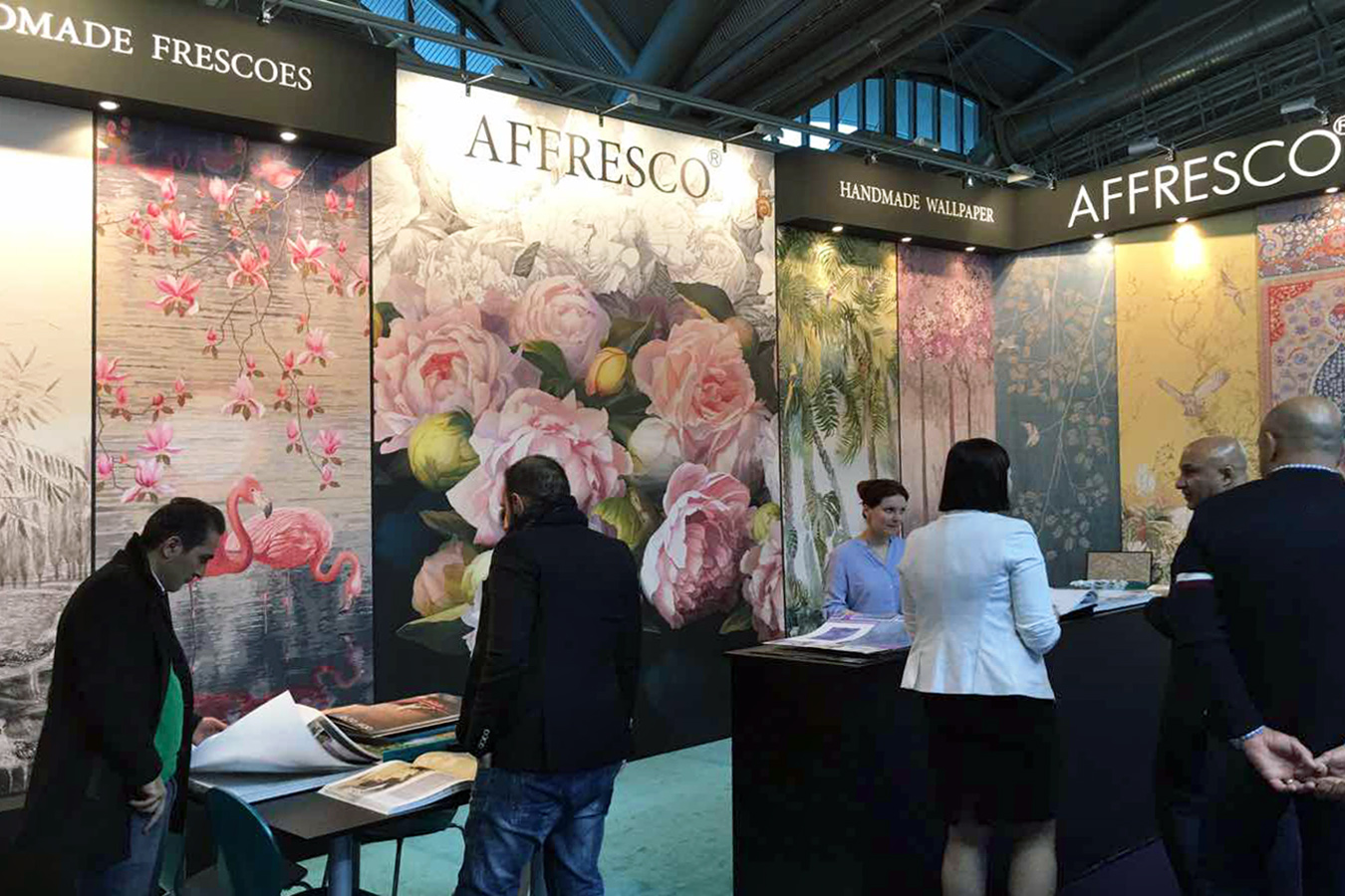 Exhibition Stand Wallpaper : Affresco stand at heimtextil 2017 in frankfurt germany