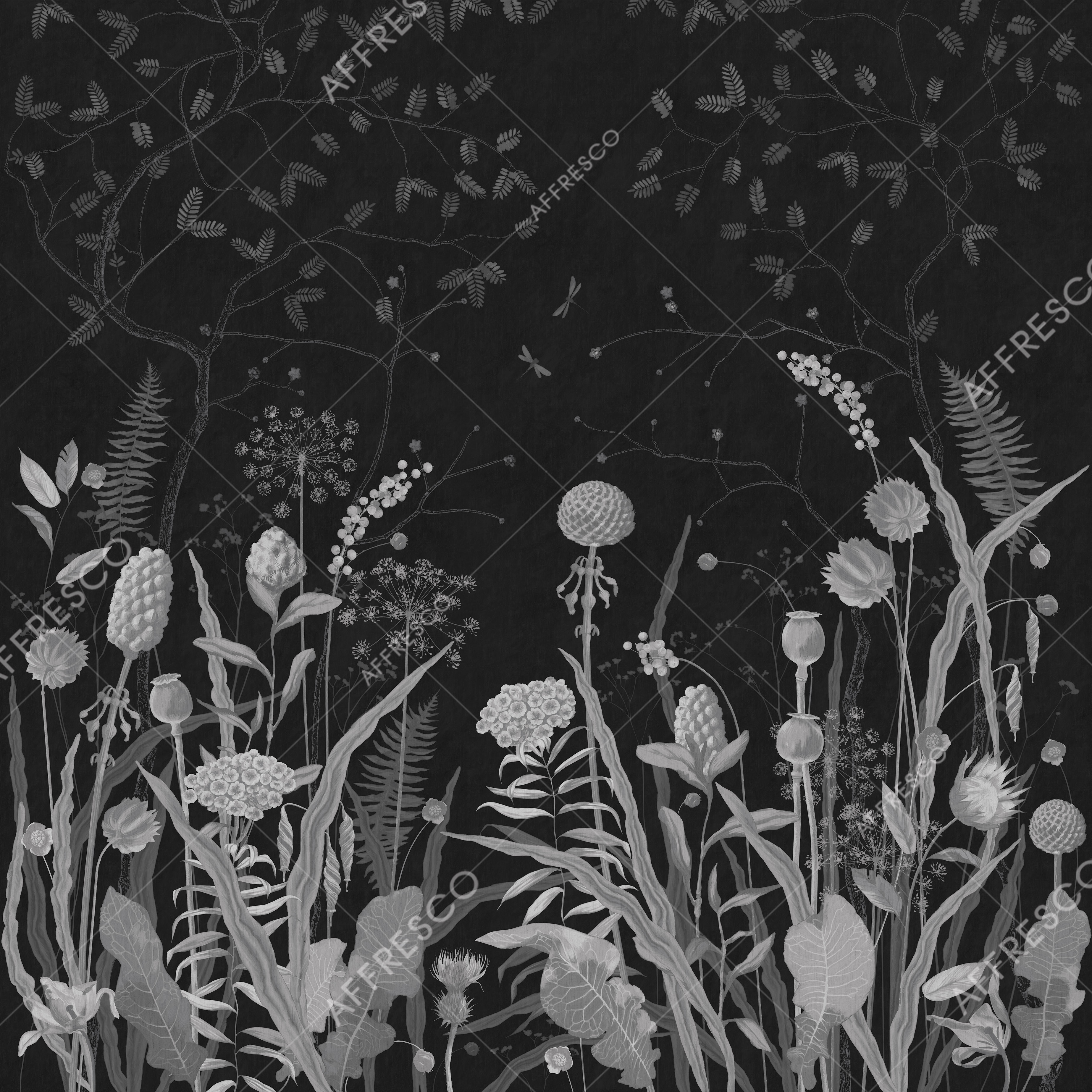Handmade wallpaper, Handmade wallpaper | Nocturnal Meadow