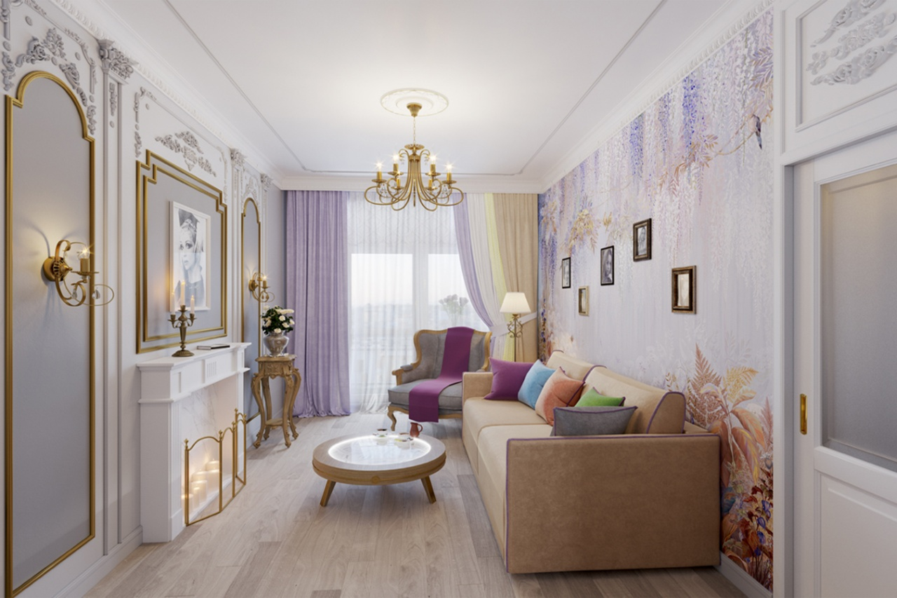"Natalia Sedykh's living room, Exclusive catalog, ""Idealnyremont"", the First Channel"