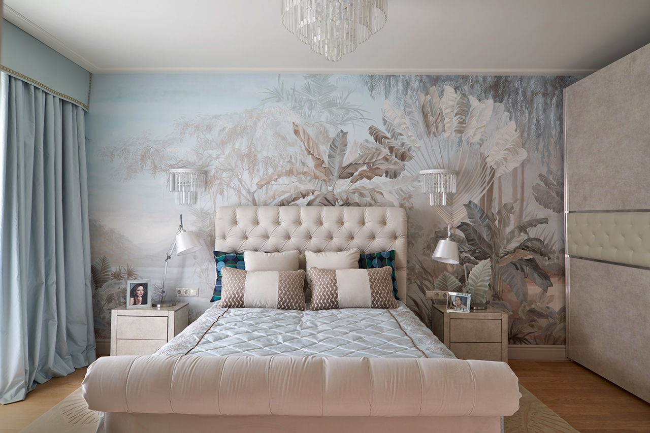 "Irina Bezrukova's bedroom, Exclusive catalog ""Idealnyremont"", the First Channel"