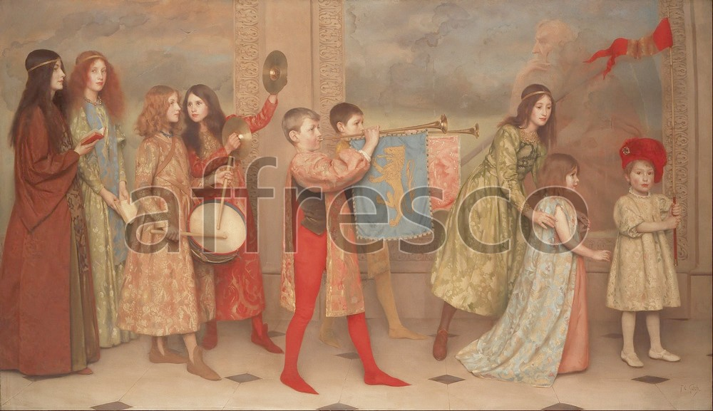Scenic themes | Thomas Cooper Gotch A Pageant of Childhood | Affresco Factory
