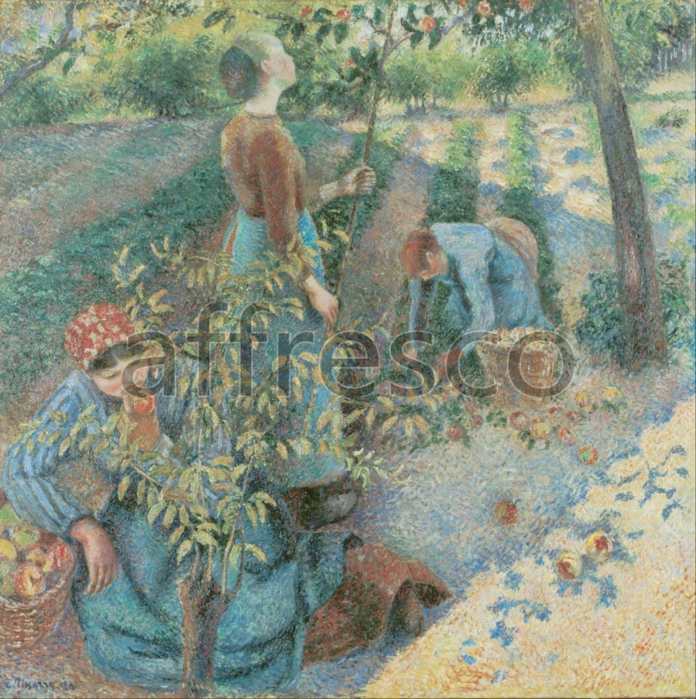 Impressionists & Post-Impressionists | Camille Pissarro Apple Picking | Affresco Factory