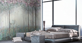 Handmade wallpaper, Spring Forest Color 2