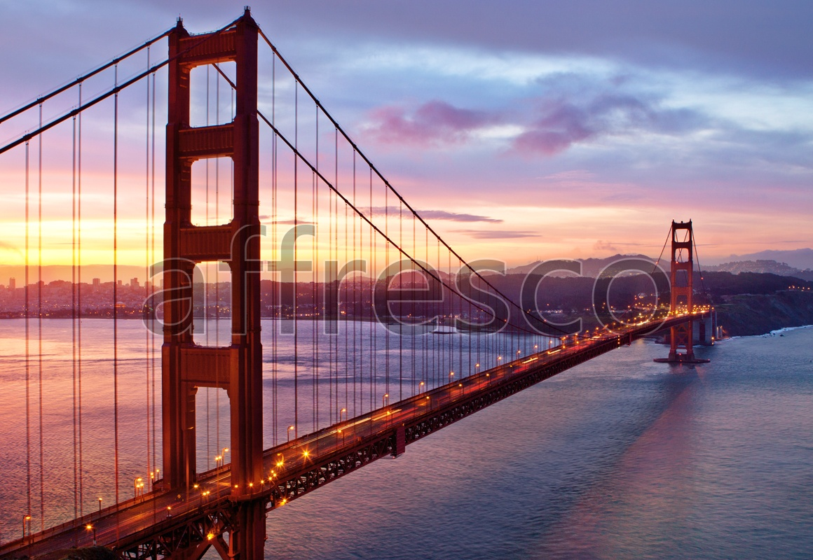 ID10351 | Pictures of Cities  | Sunset bridge | Affresco Factory