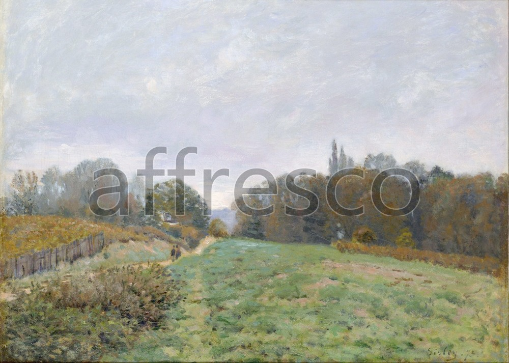 Impressionists & Post-Impressionists | Alfred Sisley Landscape at Louveciennes | Affresco Factory