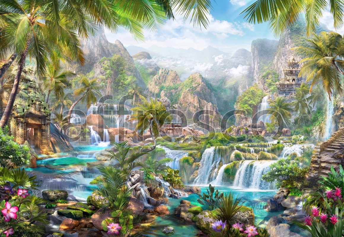 6496 | The best landscapes | Fairy cascades | Affresco Factory