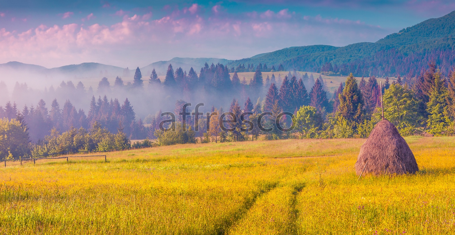 ID13452 | Pictures of Nature  | Hayrick on the meadow | Affresco Factory