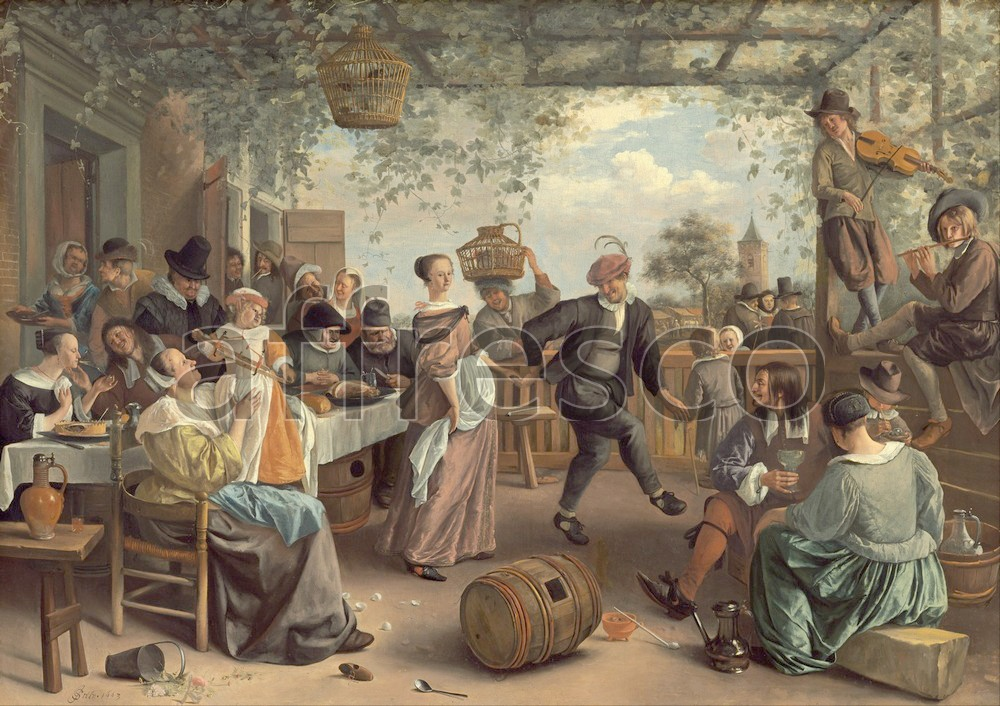 Scenic themes | Jan Steen The Dancing Couple | Affresco Factory