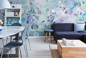 Handmade wallpaper, Handmade wallpaper | Morning in tsvetarium Color 1