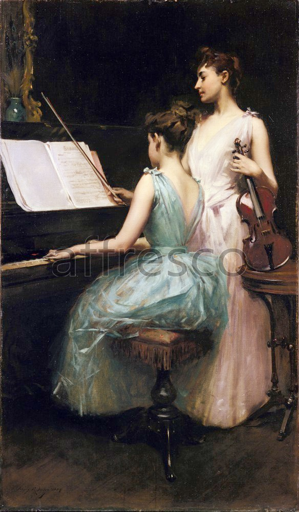 Scenic themes | Irving Ramsay Wiles The Sonata | Affresco Factory