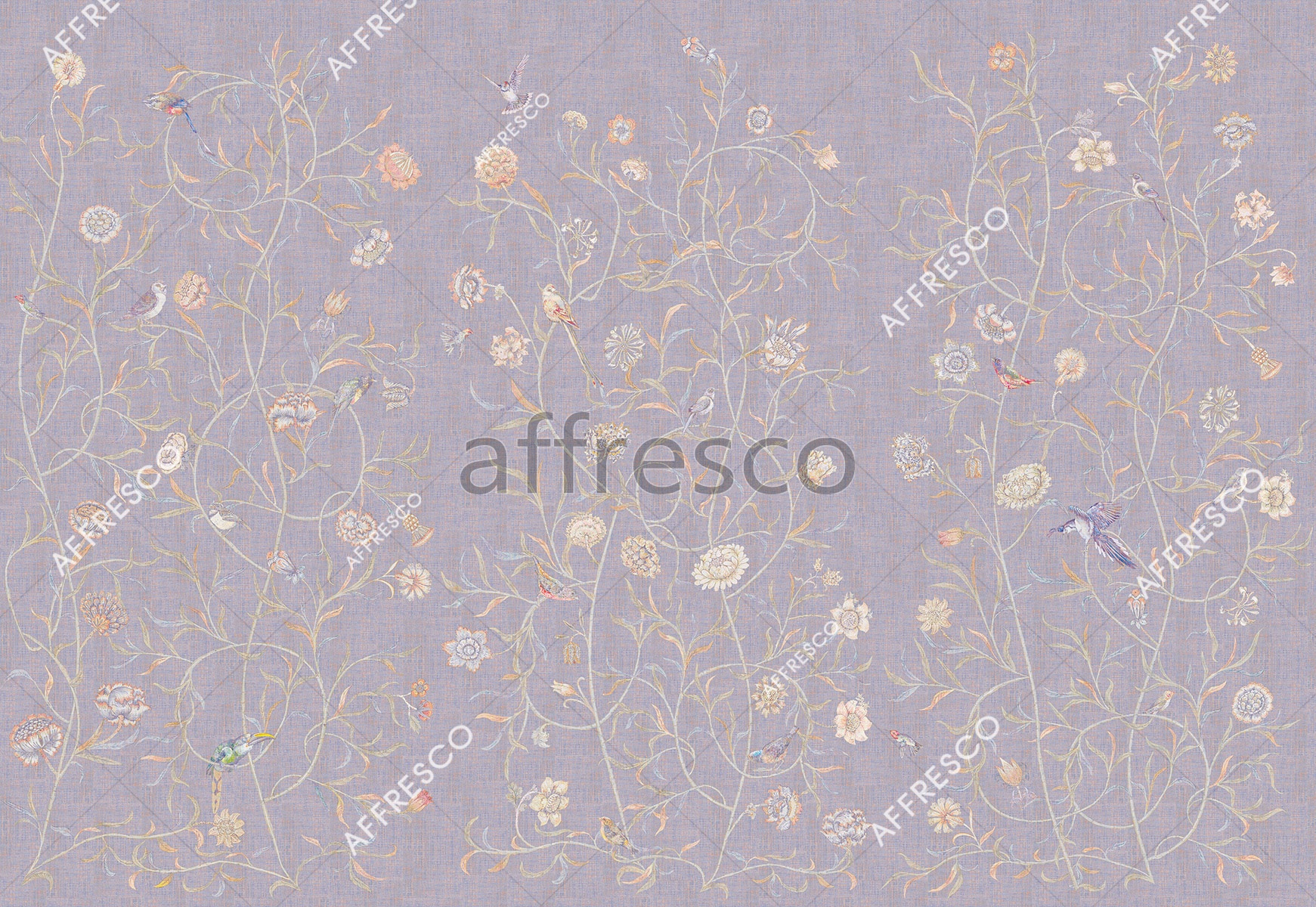 Handmade wallpaper, Floral Theme Color 2