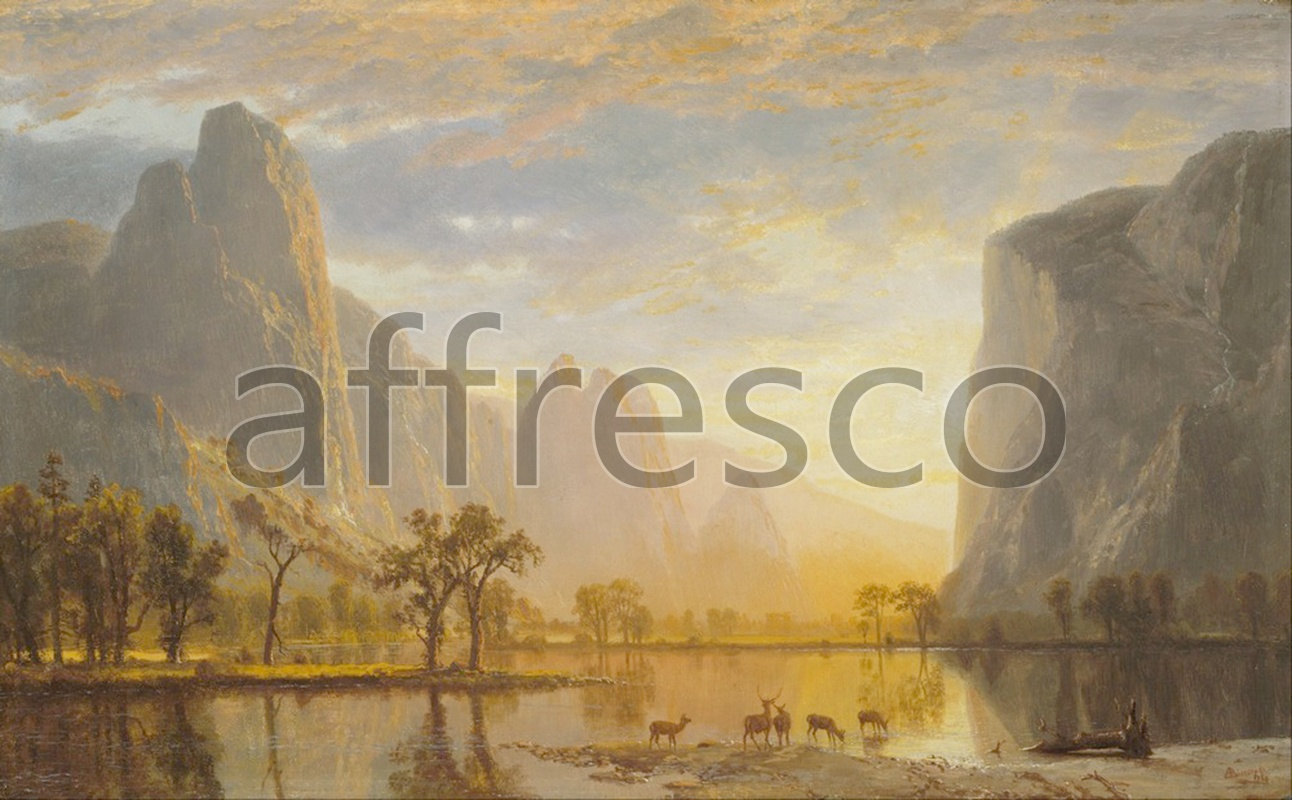 Classic landscapes | Albert Bierstadt Valley of the Yosemite | Affresco Factory