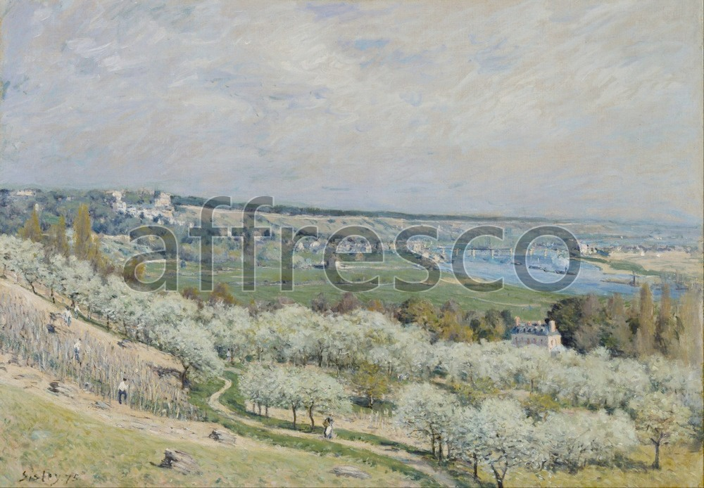 Impressionists & Post-Impressionists | Alfred Sisley The Terrace at Saint Germain Spring | Affresco Factory