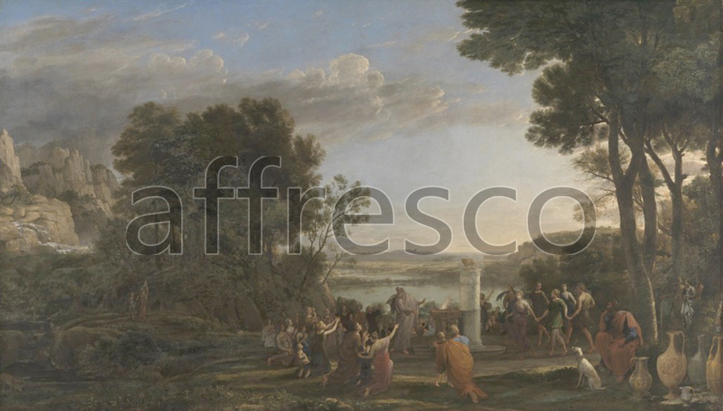 Classical antiquity themes | Worship of the Golden Calf Claude Gellee called Le Lorrain | Affresco Factory