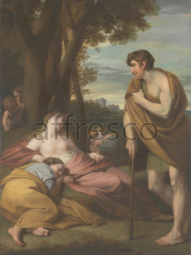 Classical antiquity themes | Benjamin West Cymon and Iphigenia | Affresco Factory