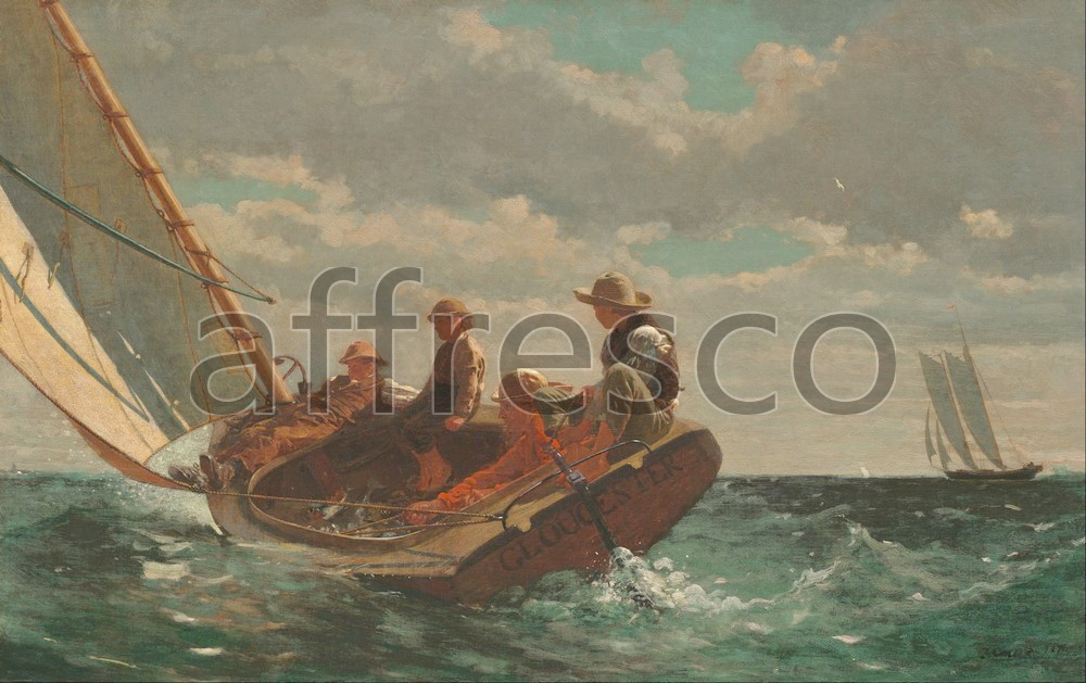 Scenic themes | Winslow Homer Breezing Up A Fair Wind | Affresco Factory