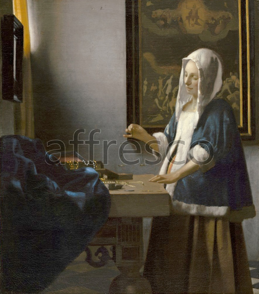 Scenic themes | Johannes Vermeer Woman Holding a Balance | Affresco Factory