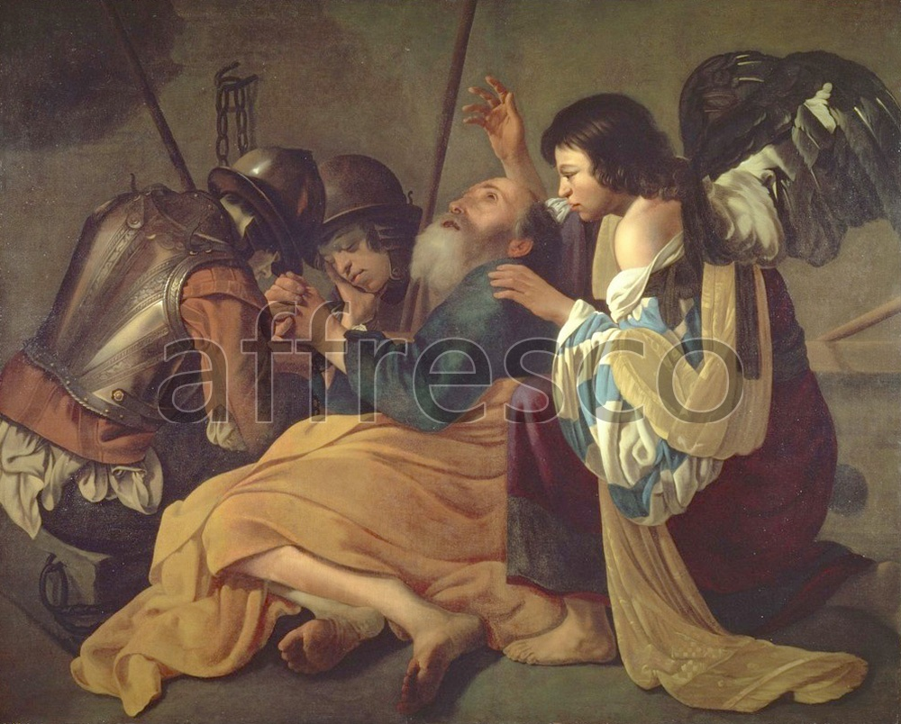 Biblical themes | Hendrick Terbrugghen The Liberation of St. Peter | Affresco Factory