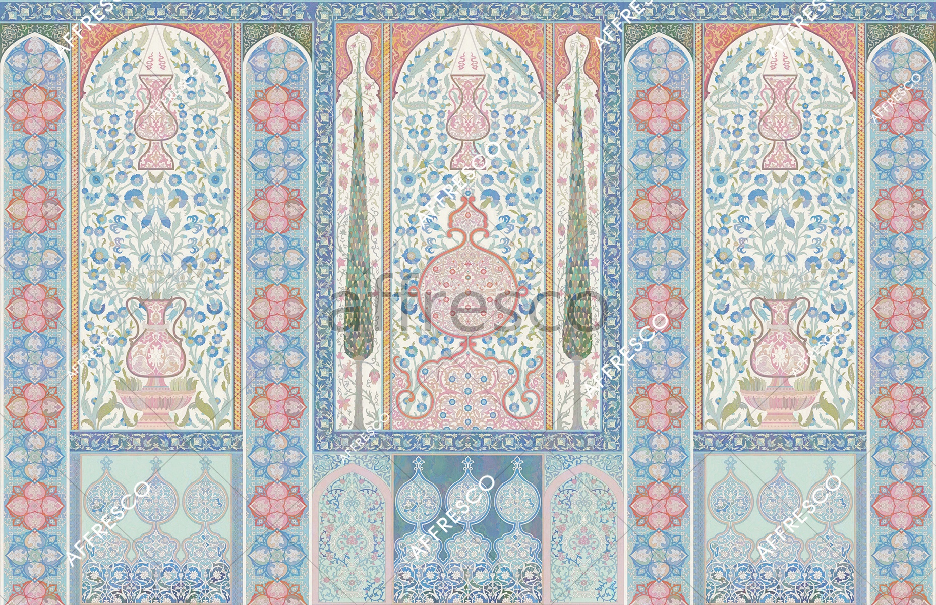 Handmade wallpaper, Orient ornament