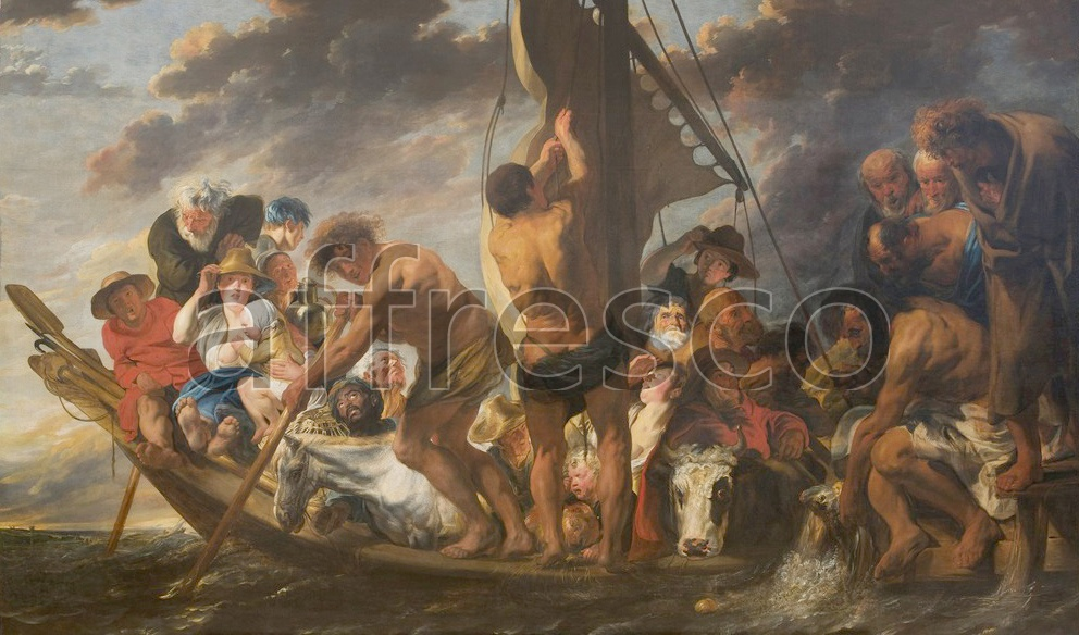 Scenic themes | Jacob Jordaens The Tribute Money Peter Finding the Silver Coin in the Mouth of the Fish | Affresco Factory