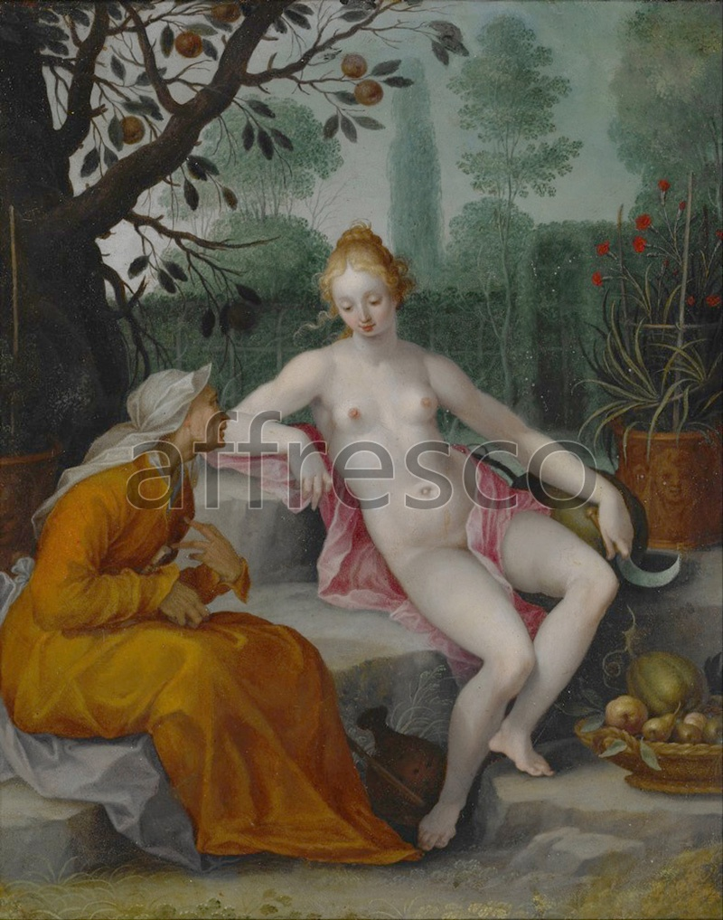 Classical antiquity themes | After Bloemaert Abraham Vertumnus and Pomona | Affresco Factory