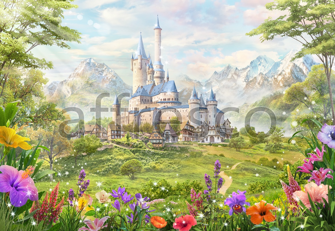 9719 | The best landscapes | kids castle | Affresco Factory