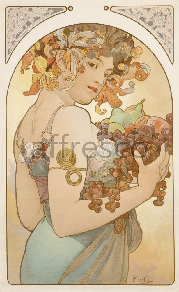 Scenic themes | Alfons Mucha Fruit 2 | Affresco Factory