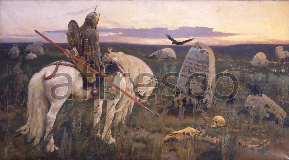 Scenic themes | Victor Vasnetsov Knight at the Crossroads | Affresco Factory