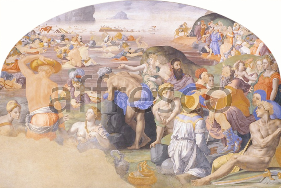 Biblical themes | Agnolo Bronzino The crossing of the Red Sea 3 | Affresco Factory