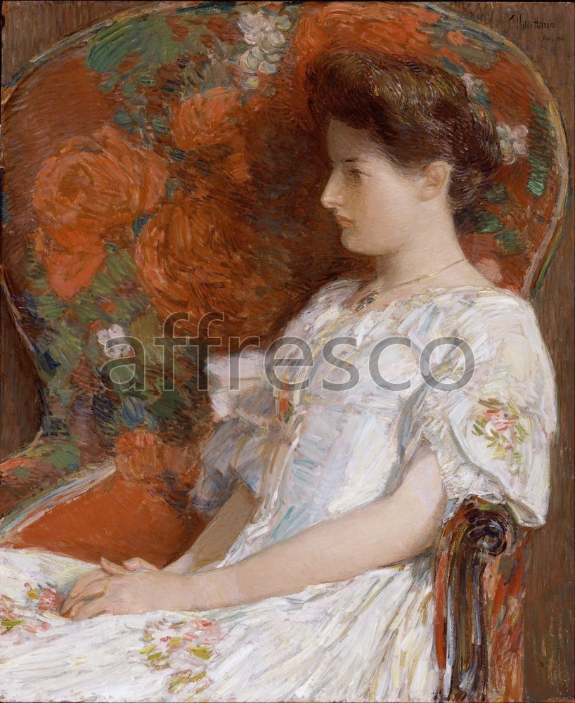 Impressionists & Post-Impressionists | Childe Hassam The Victorian Chair | Affresco Factory