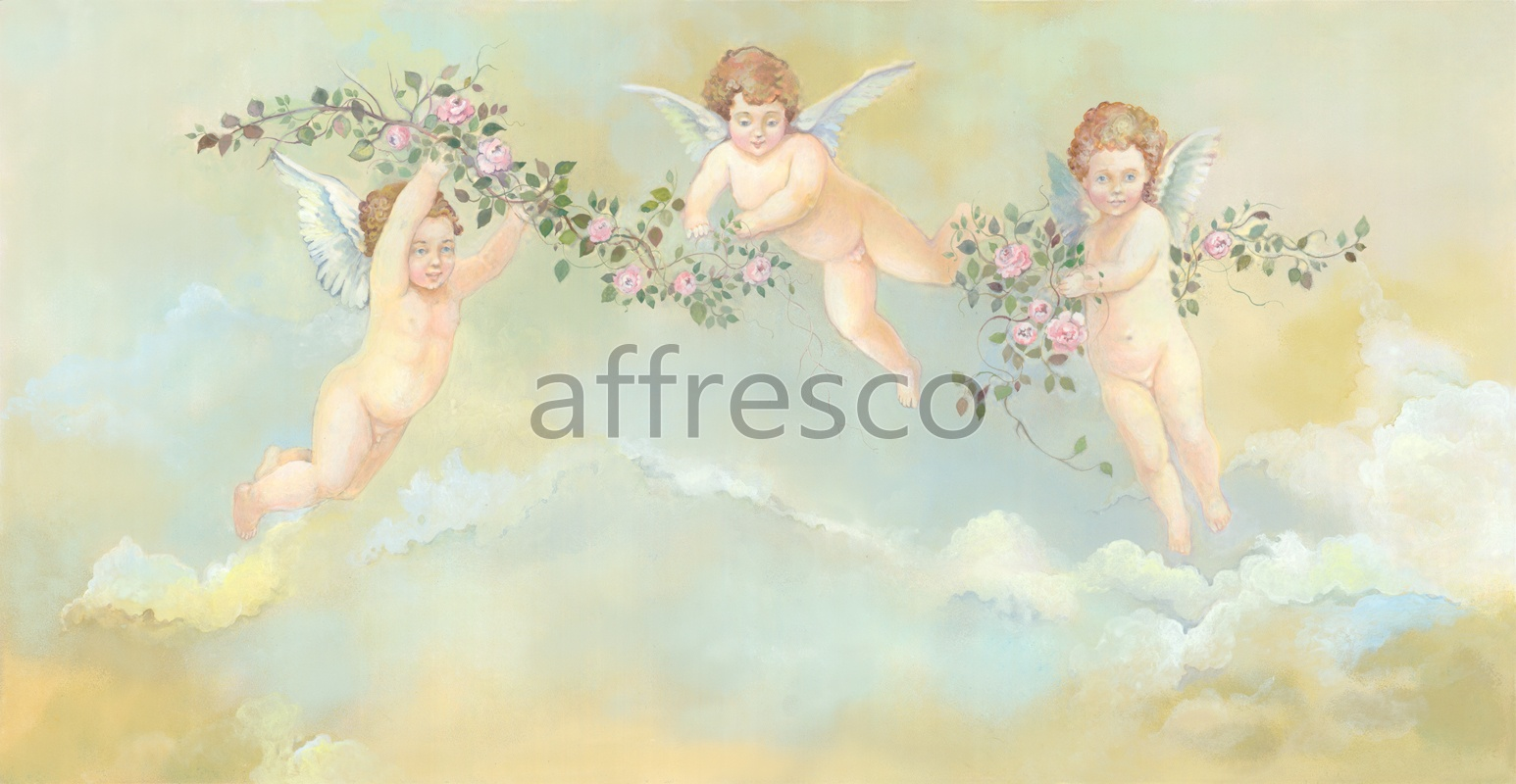 3176 |  Ceilings  | Angels with branches | Affresco Factory