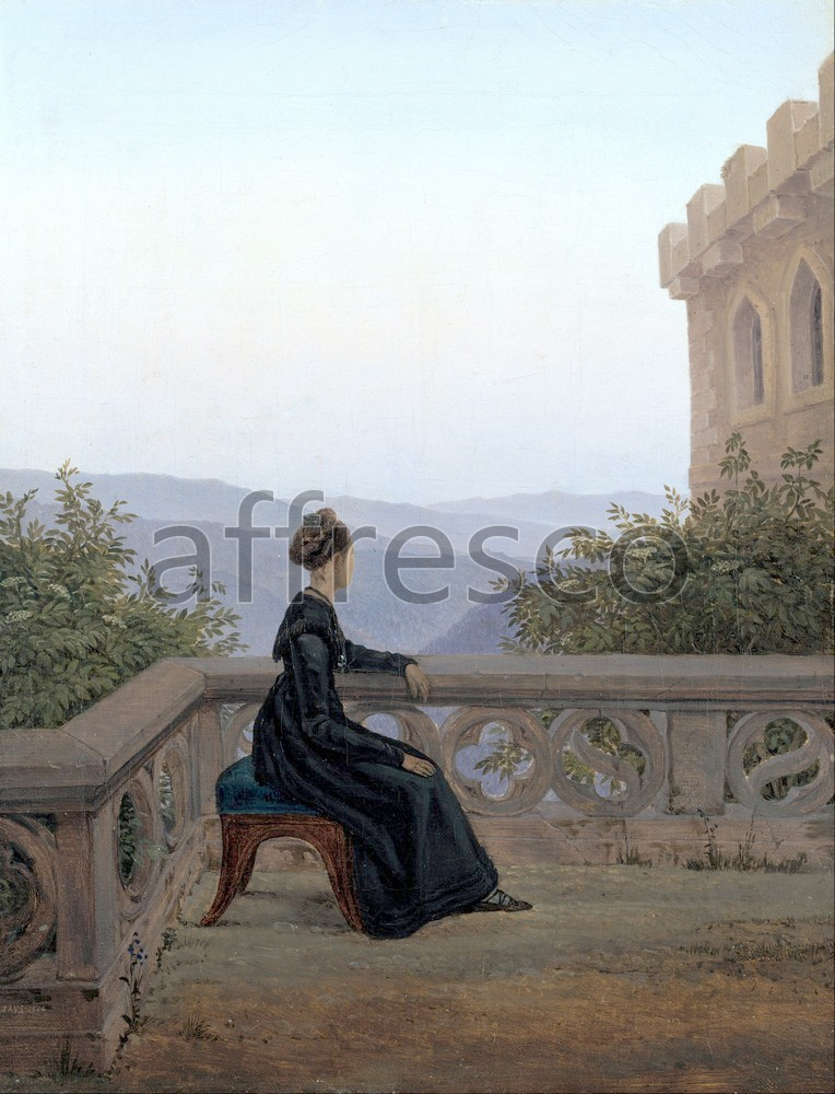 Scenic themes | Carl Gustav Carus Woman on the Balcony | Affresco Factory