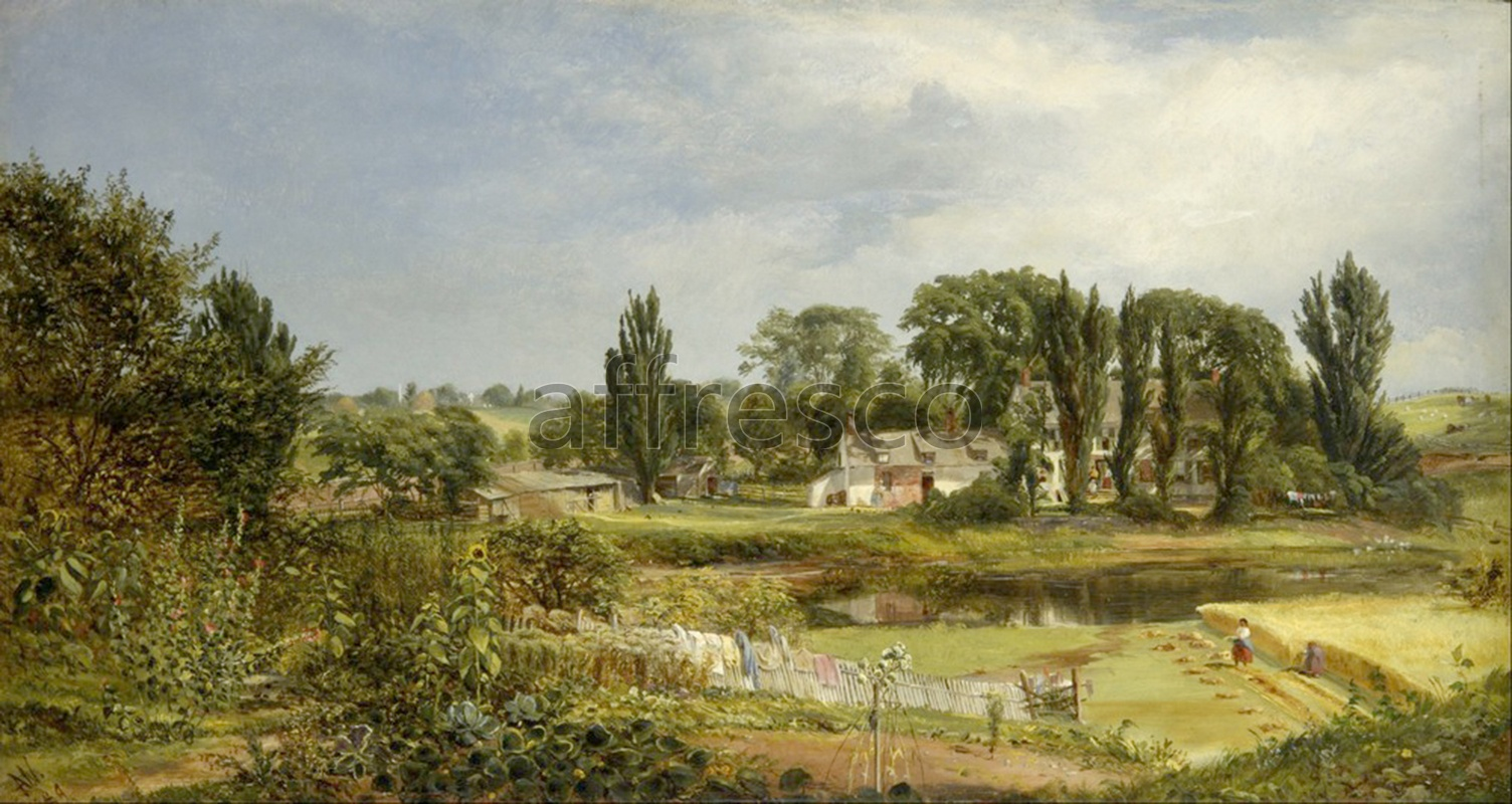 Classic landscapes | Andrew W. Warren Long Island Homestead Study from Nature | Affresco Factory