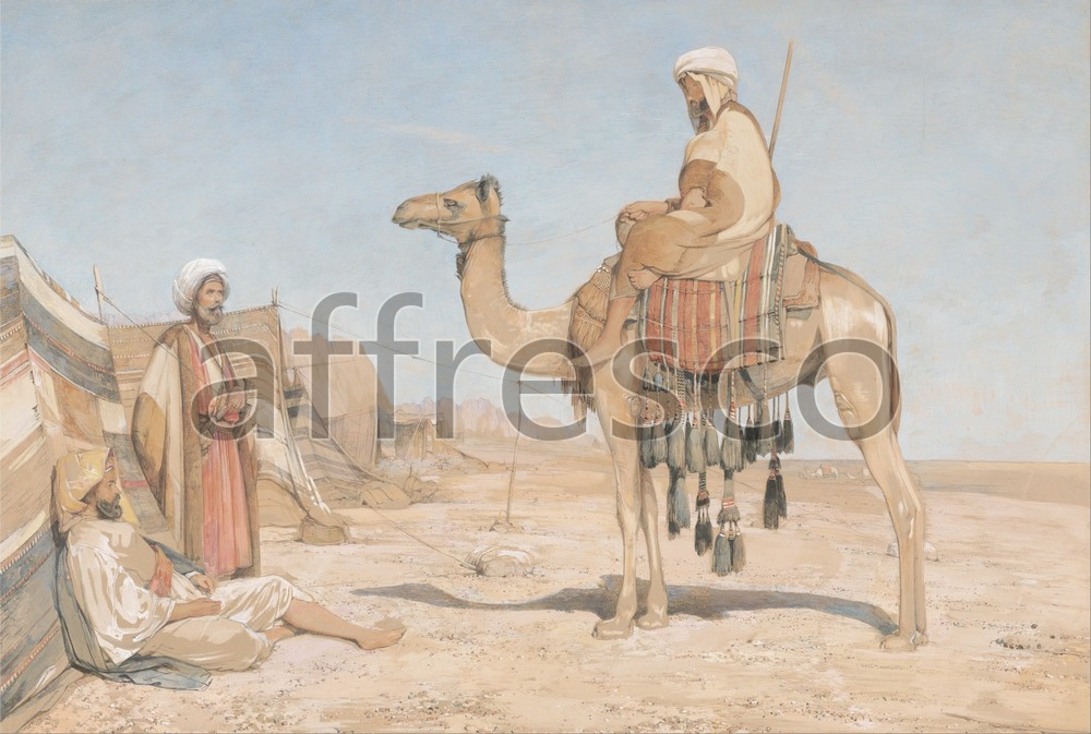 Scenic themes | John Frederick Lewis A Bedouin Encampment or Bedouin Arabs | Affresco Factory