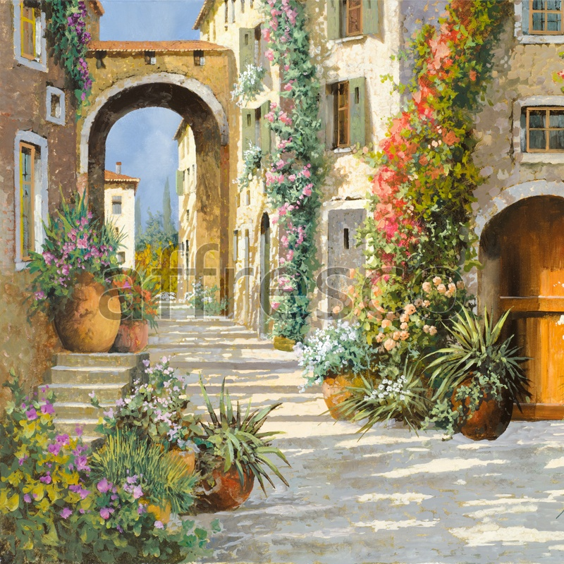 6839 | Picturesque scenery | Street with arch | Affresco Factory