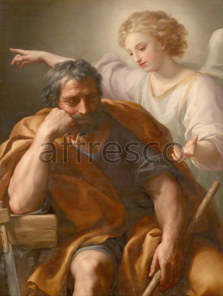 Biblical themes | Anton Raphael Mengs The Dream of St. Joseph | Affresco Factory