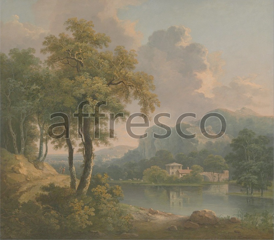 Classic landscapes | Abraham Pether Wooded Hilly Landscape | Affresco Factory