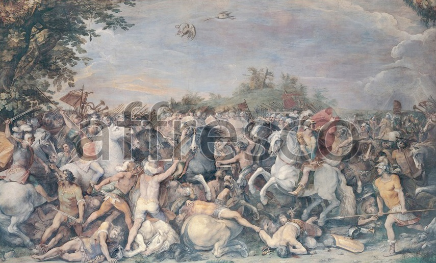 Scenic themes | Cavalier d Arpino and workshop Battle against the inhabitants of Veii and Fidenae | Affresco Factory