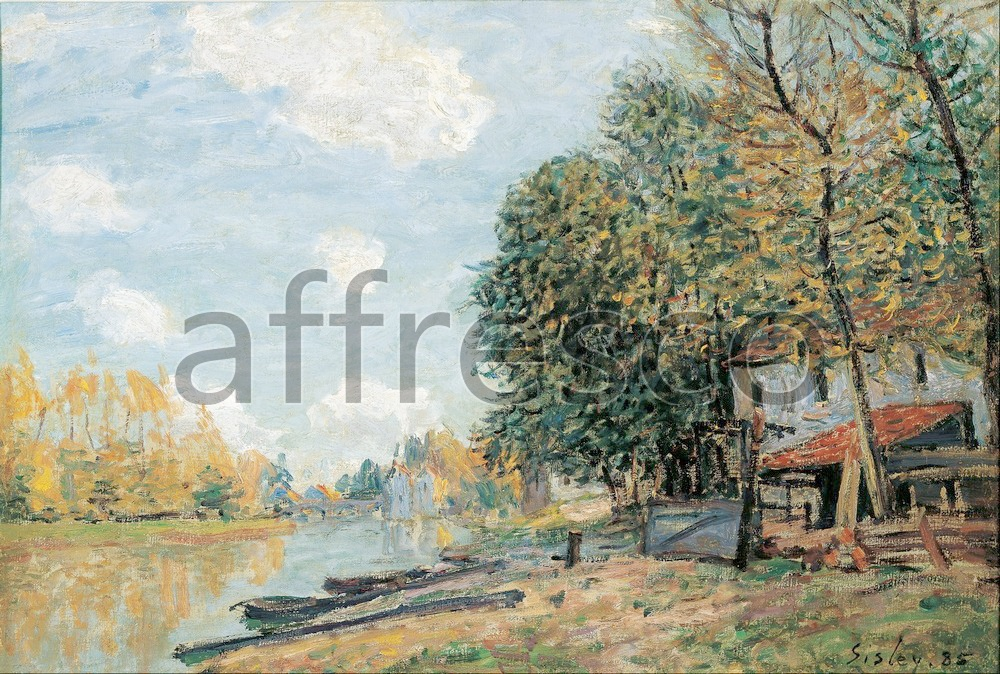 Impressionists & Post-Impressionists | Alfred Sisley Moret The Banks of the River Loing | Affresco Factory