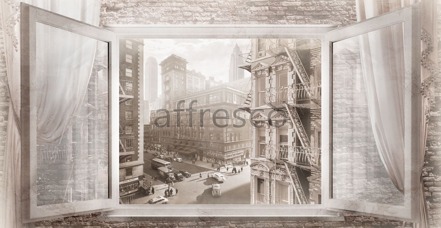 4967 | Pictures of Cities  | View of the city from the window | Affresco Factory