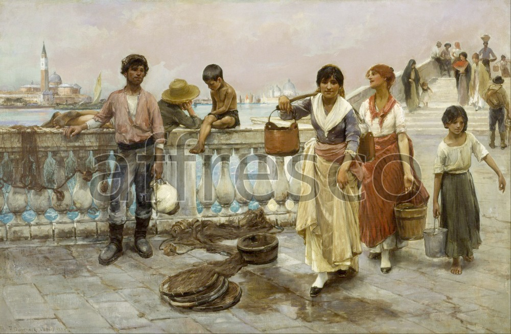 Scenic themes | Frank Duveneck Water Carriers Venice | Affresco Factory