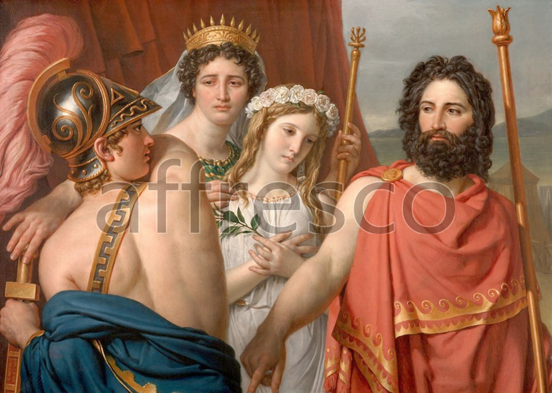 Classical antiquity themes | Jacques Louis David The Anger of Achilles | Affresco Factory