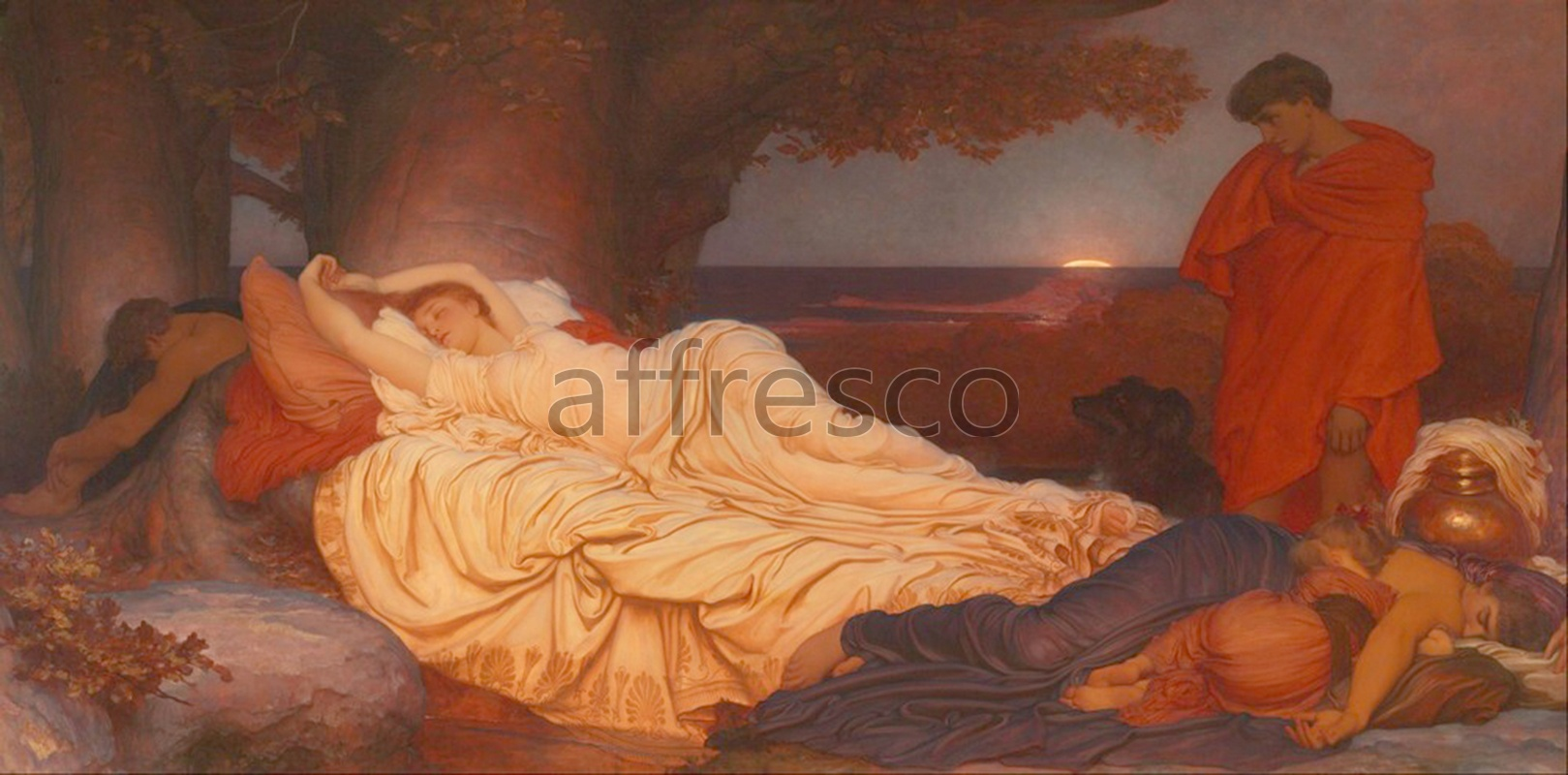 Classical antiquity themes | Lord Frederic Leighton Cymon and Iphigenia | Affresco Factory