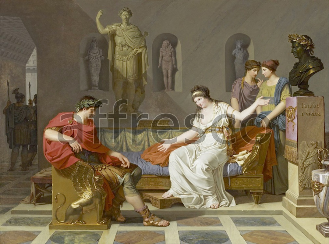 Classical antiquity themes | Louis Gauffier Cleopatra and Octavian | Affresco Factory