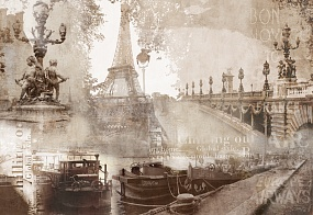 7085 | The best landscapes | Collage of Paris | Affresco Factory