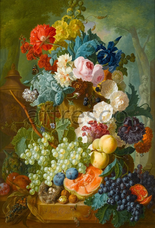 2205 | Still-Life Paintings | fruits flowers | Affresco Factory