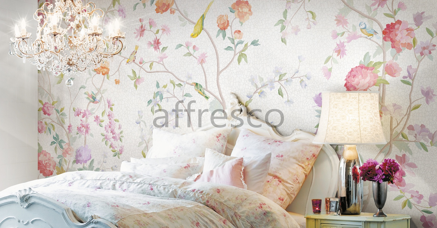 Handmade wallpaper, Flowers Brides garden