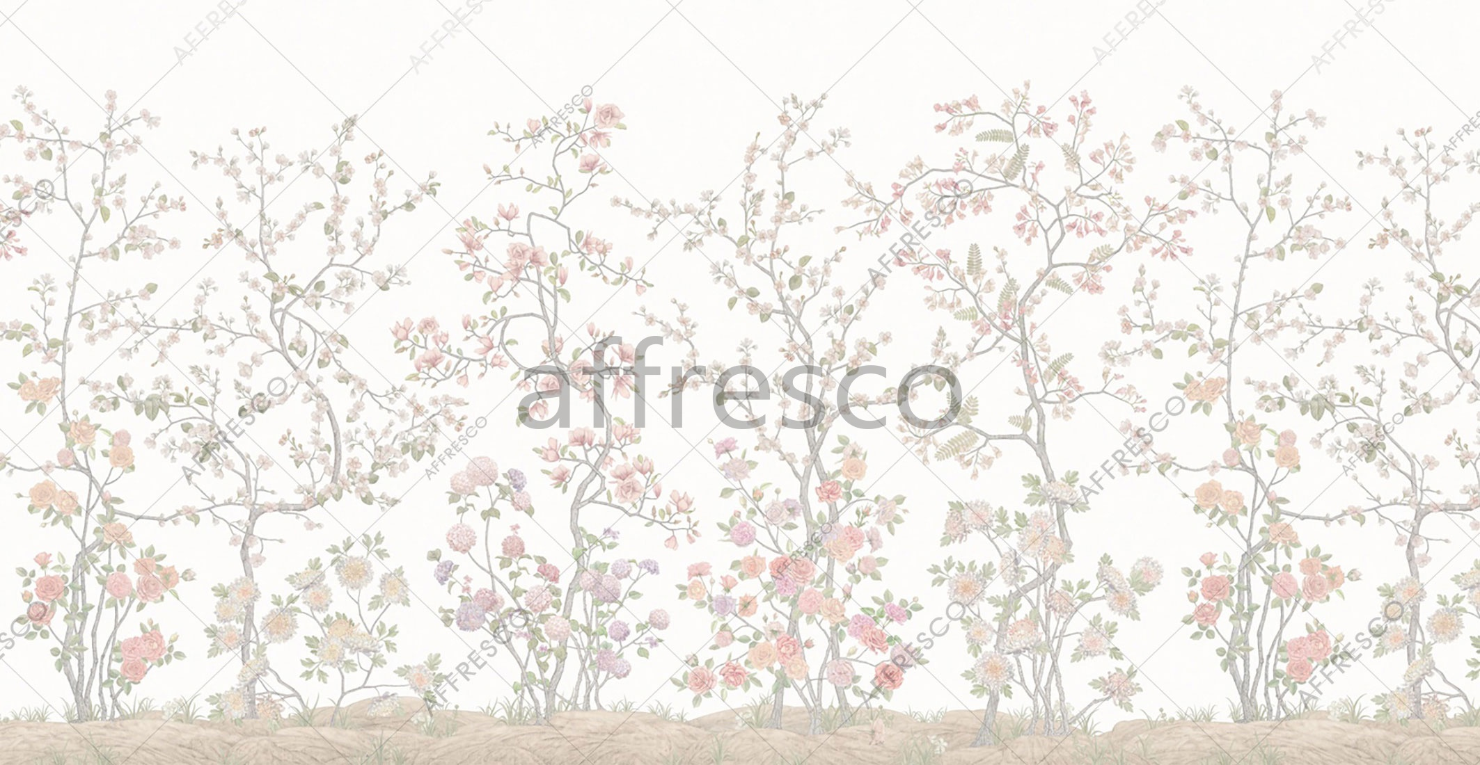 6917 | Gardens | Chinoiserie wallpaper | Affresco Factory