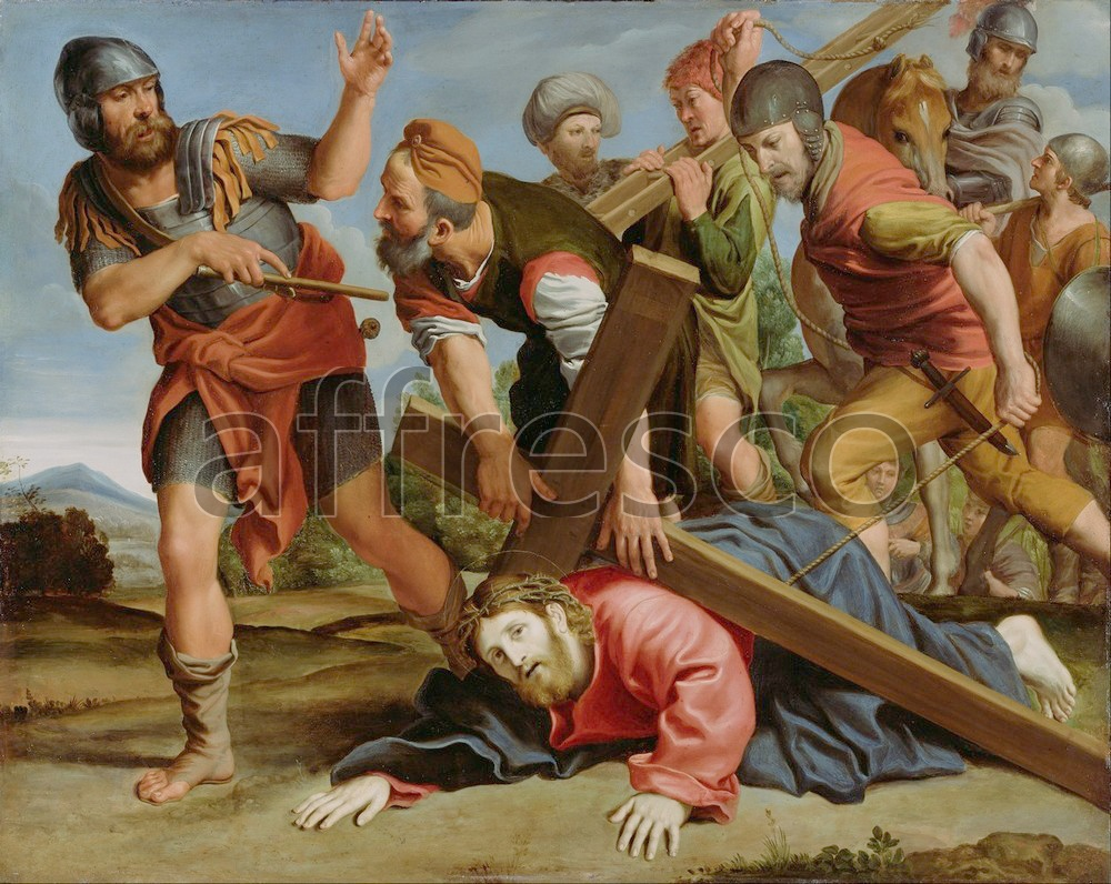 Biblical themes | Domenichino Domenico Zampieri The Way to Calvary | Affresco Factory